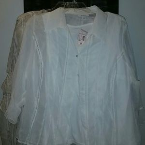 NEVER WORN cream camisole and blouse